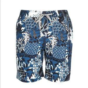 Onia Pineapple Print Swim Trunks